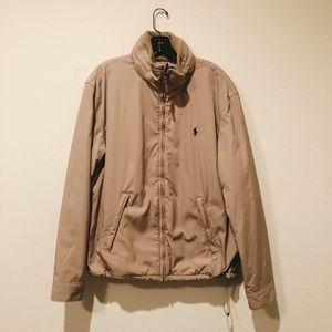 Polo Tan Bomber Coat Very Warm - Large